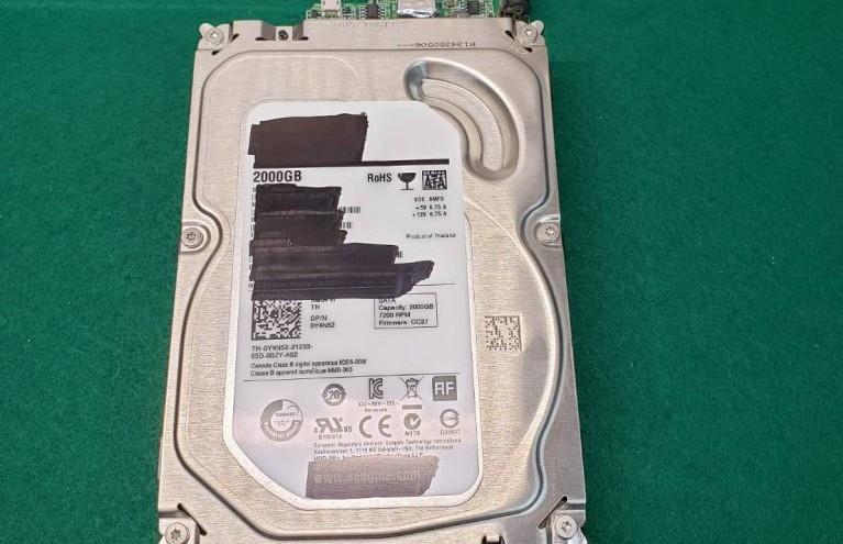 修理した外付けハードディスク