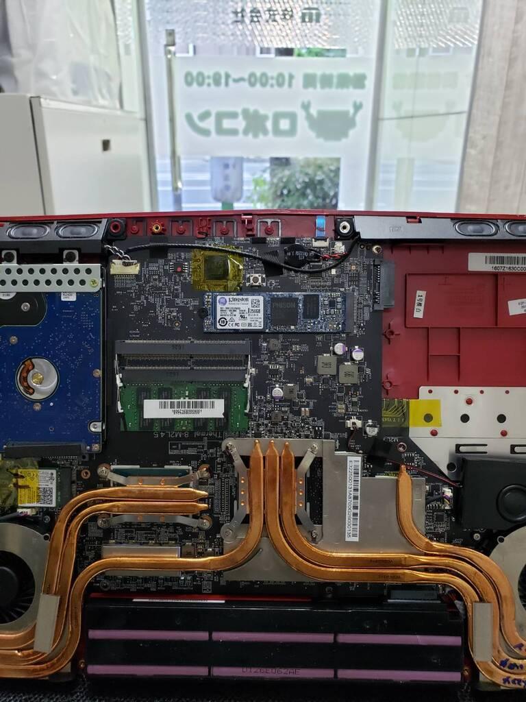 対象媒体:GE62VR &RF 診断方法:持ち込み修理 ノート PC起動しないゲーミングPC 依頼主様:大阪市 東成区 M様修理事例です 3